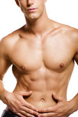 Healthy muscular young man. — Stock Photo