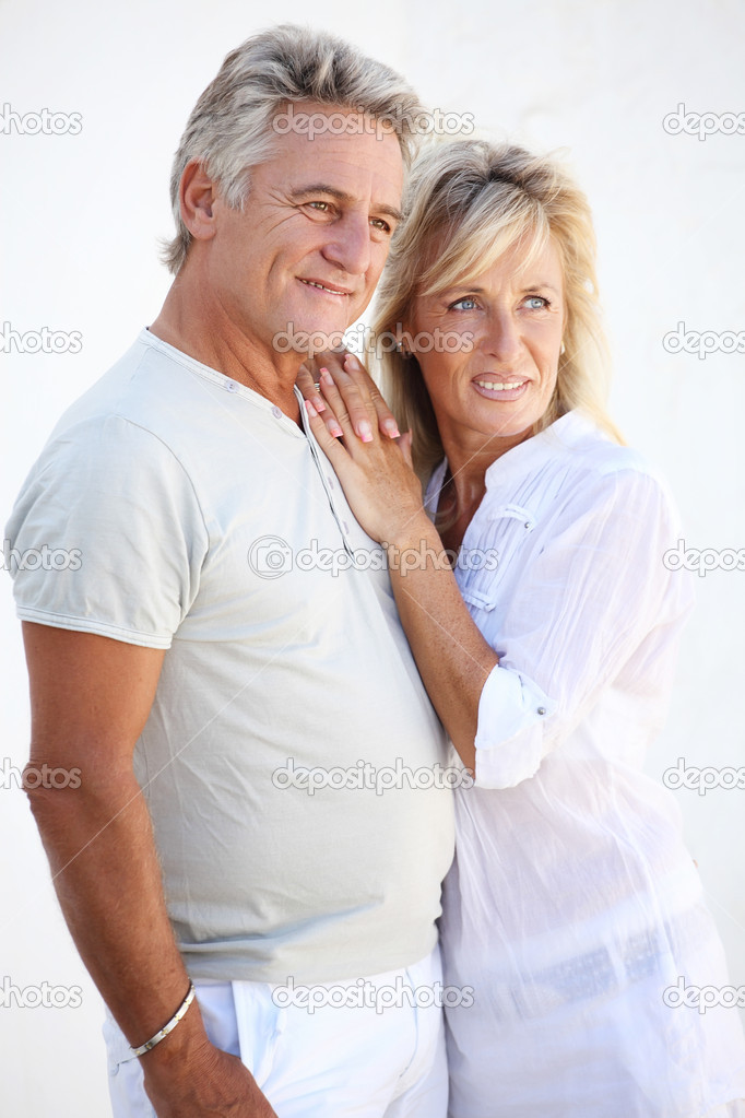 Portrait of a happy mature couple smiling. — Stock Photo #8731702