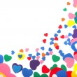 Stock Photo: Colorful foam confetti hearts