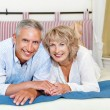 Stock fotografie: Happy mature couple at home