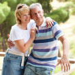 Happy mature couple outdoors — Foto Stock