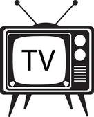 Vintage Cartoon TV vector illustration — Stock Vector