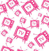 Vintage Cartoon TV background vector illustration — Stock Vector