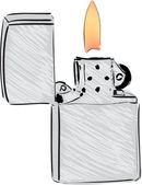Lighter cartoon sketch vector illustration — Stock Vector