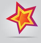Star detailed vector illustration — Stock Vector