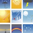 Weather icons — Vettoriale Stock #8830859