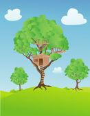 Treehouse — Stock Vector