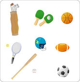 Sports objects — Vecteur