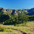 Stock Photo: Hiking trail in mountains