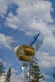 Martini against the sky — Stock Photo