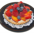 Fruit tart for dessert - Stock Photo