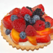 Fruit tart for dessert — Stock Photo