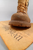 Stepping on the Constitution — Stock Photo