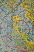 Aeronautical diagram — Stockfoto