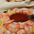 Shrimp and dipping sauce — Stock Photo #8891727