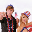 Uncle Sam and young lady — Stock Photo #8892019