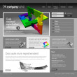 Gray Website Template 960 Grid. - Stock vektor