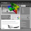 Gray Website Template 960 Grid. — Stock Vector #9044911