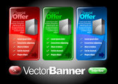 Vectors Banners Set. — Stock Vector