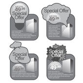 Gray Template Special Offer Banner — Vector de stock