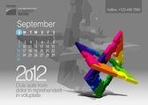 2012 kalender. vektor illustration med pussel vector-element — Stockvektor