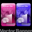 Special Offer Banner Set Vector — ストックベクタ