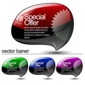 Abstract Shiny Glass Banner — Stock Vector