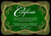 Gold certificate. Vector — Stock Vector