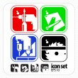 Assembly Tools icons - Vector Icon Set — Stock Vector
