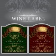 Vector de stock : Wine label with a gold ribbon