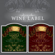 Wine label with a gold ribbon — Vector de stock #9395356