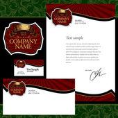 Corporate identity confectionery — Stock Vector