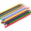 Colour pencils in black holder — Stock Photo #9028802