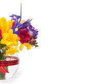 Vackra vårblommor i ett glas — Stockfoto