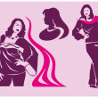 Images of lush women — Stock Vector #9170705