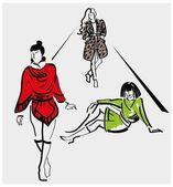 Fashion show — Stock Vector