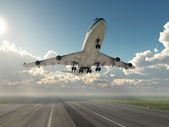 Airplane taking off — Stockfoto