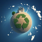 Planet of recycling — Stock Photo