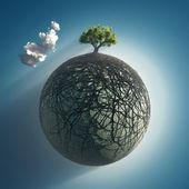 Raízes das árvores que cobrem o planeta — Foto Stock