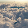 Flight above the clouds — Stock Photo