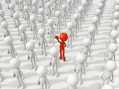 Person different from the crowd — Stock Photo