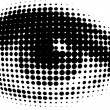 Royalty-Free Stock Vectorielle: Human eyes in dots