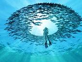 Oog van de oceaan — Stockfoto