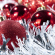 Red baubles - Stock Photo
