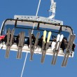 Ski lift from below — Stock Photo