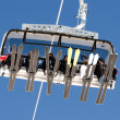 Ski lift from below - Stock Photo
