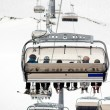 Chairlift in the skiing area — Stock fotografie