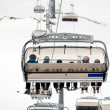 Chairlift in the skiing area — Stock Photo
