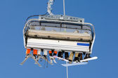 Ski lift from behind — Stock Photo