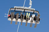 Ski lift from below — Foto Stock